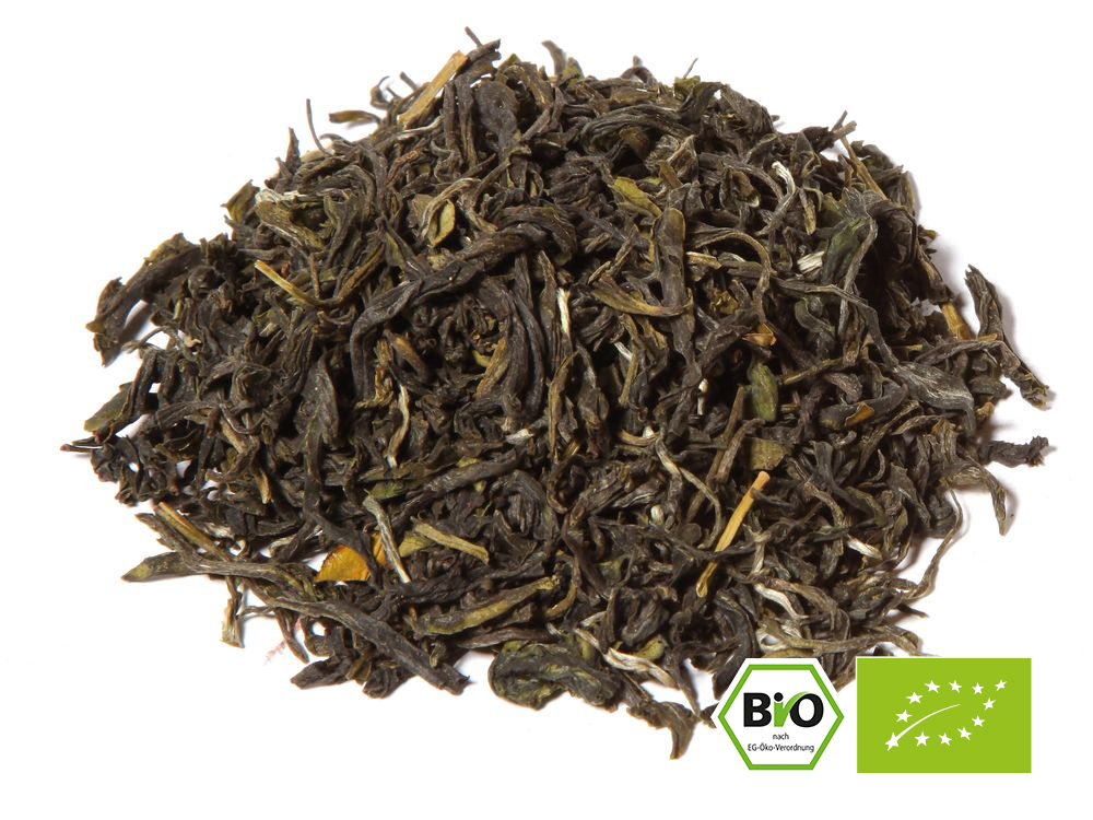 Grüner Tee aus dem Anbaugebiet China. CHINA PI LO CHUN BIO